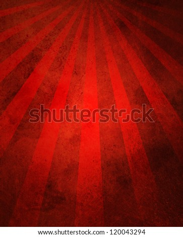 abstract red background retro striped layout with old distressed vintage grunge background texture pattern for web design side bar banner or scrapbook page for birthday celebration or festivities - stock photo