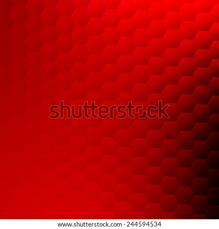 Abstract Red Background - Website Wallpaper Design - Modern Simple Business Card Texture - Geometric Pattern of Hexagons - Minimalistic Illustration Concept - Hexagonal Copy Space - Desktop Computer - stock photo