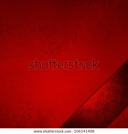 abstract red background with luxury red ribbon stripe angle on border frame, has vintage grunge background texture design with lighting, elegant Christmas background, red luxurious paper or wallpaper - stock photo