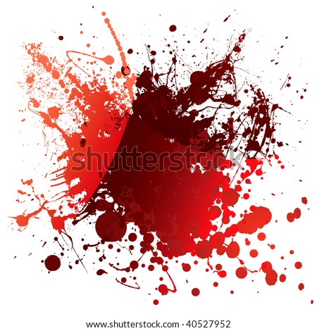 Abstract red blood background with light reflection and splatter