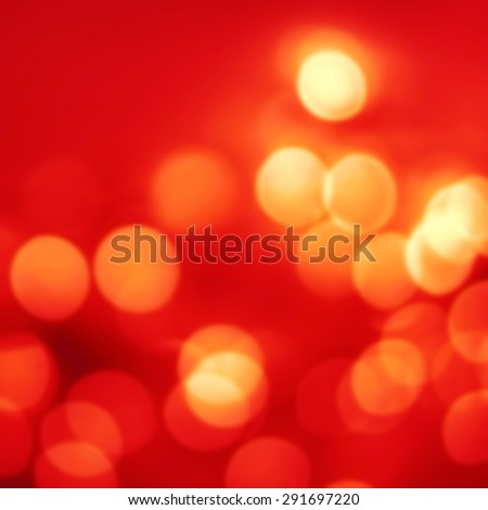 Abstract Red  Christmas background with golden  bokeh lights  and place for text. Beautiful Festive textured  background. Vintage defocused background. - stock photo