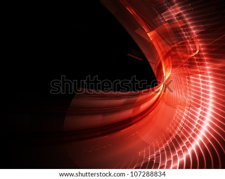 Abstract red composition - stock photo