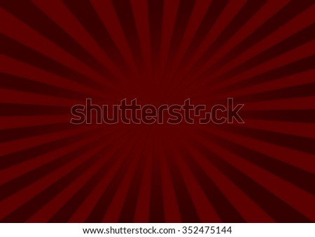 Abstract red elegance background with starburst rays - stock photo