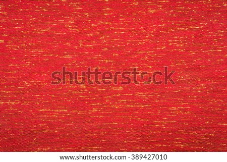 Abstract red fabric texture - stock photo