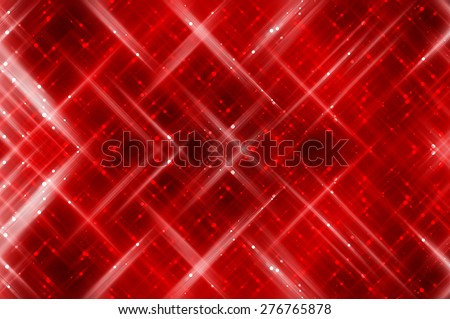 Abstract red fractal background with various color lines and strips - stock photo