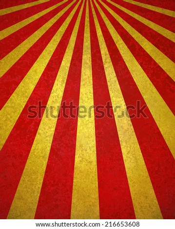 abstract red gold sunburst background, retro vintage style sunbeam or rays in diagonal pattern design with texture  - stock photo