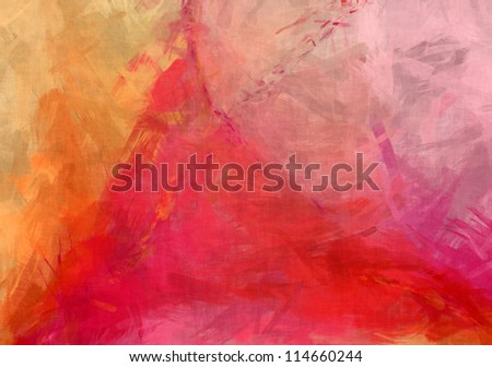 Abstract red grungy paint background - stock photo