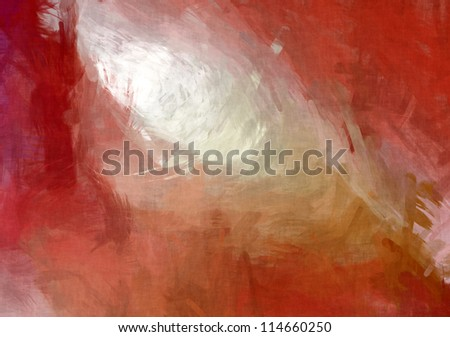 Abstract red grungy paint background