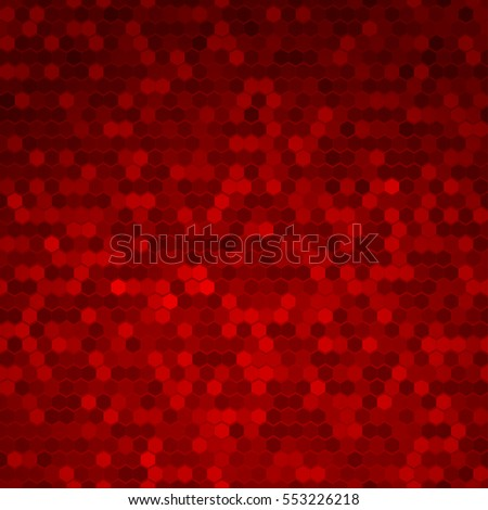 Abstract Red Halftone Dots Background