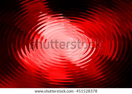 Abstract red light ripple in water with concentric circles.