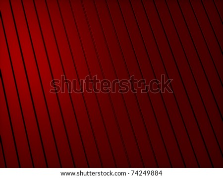 Abstract red metallic industrial background with lines