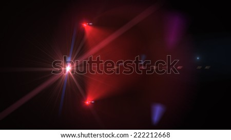 Abstract red Motion Background With Lens Flares - stock photo