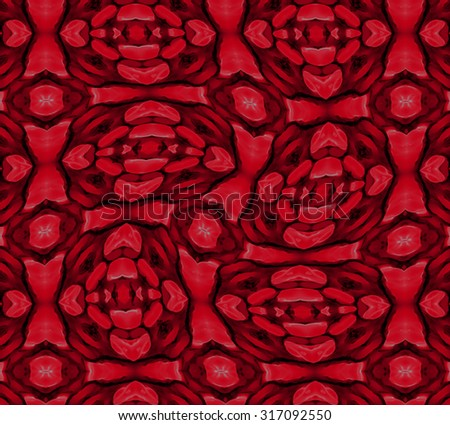 abstract red ornament - stock photo