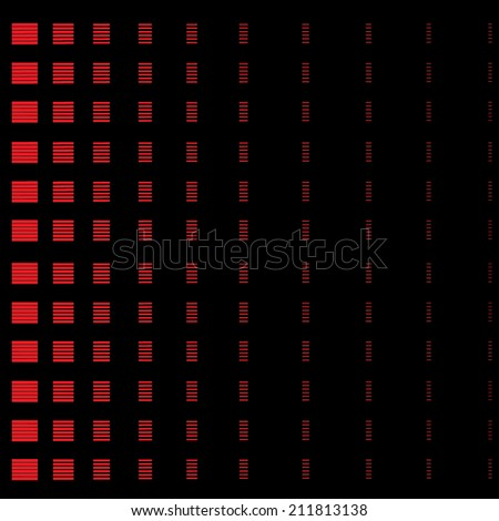 abstract red square on a black background