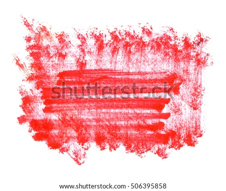 abstract red stain watercolor paint