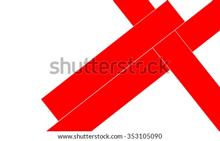 Abstract red stripes design on white background (very high resolution) no vector