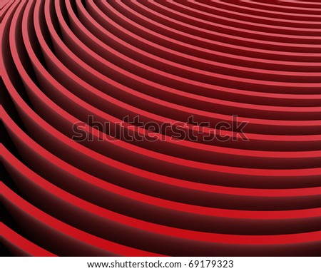 abstract red velvet rows