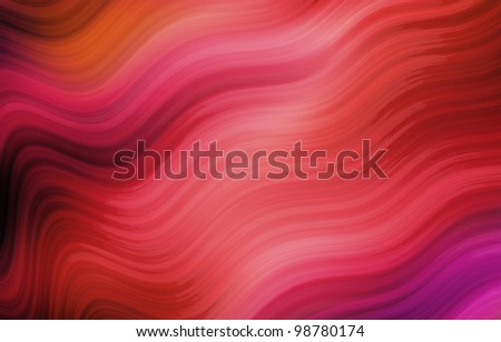 abstract red wave background - stock photo