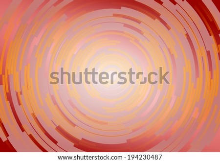Abstract red, yellow and orange spiral motive background