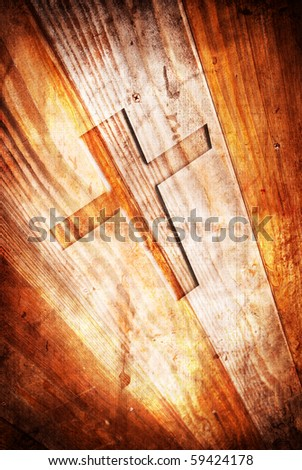 Abstract Religious Background in Grunge Texture - stock photo