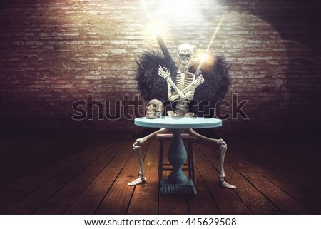 abstract representation of a Dark Angel or demon - stock photo