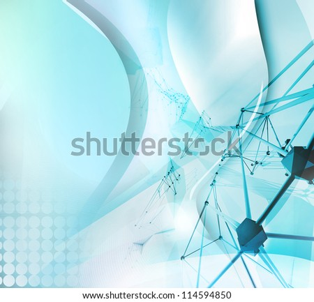 abstract research background - stock photo