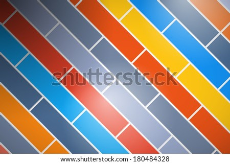 Abstract Retro Colorful Brick Background  - stock photo
