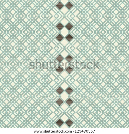 abstract retro seamless pattern with fabric texture on