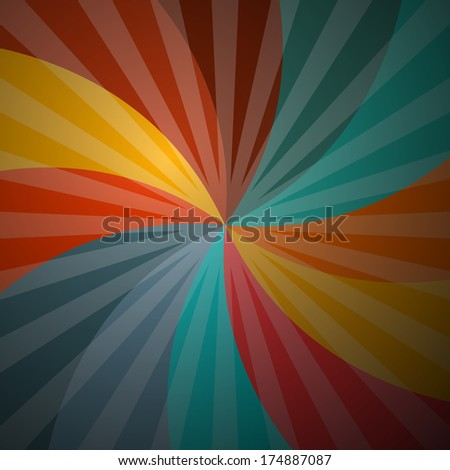 Abstract Retro Spiral Background