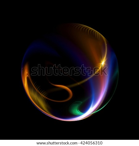 Abstract ring background. 3D illustration. Glowing spiral. The energy flow tunnel. shine round frame with light circles light effect. glowing cover. Space for message.  Light sphere. Atom power.