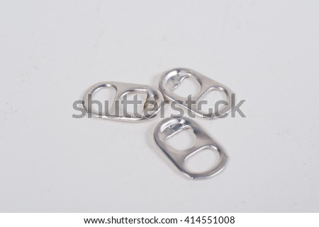 Abstract ring pull aluminum of cans background - stock photo