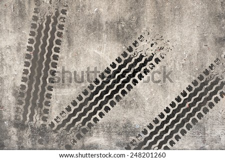 Abstract road background with tyre track