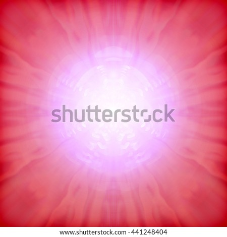 abstract romantic background of luminous lines in the form of heart - stock photo