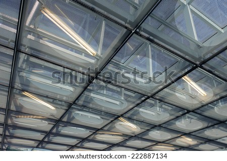 Abstract roof of modern building - stock photo