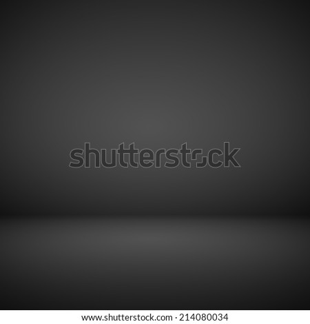 Abstract room interior black background - stock photo
