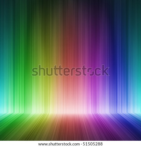 abstract room with colorful wall