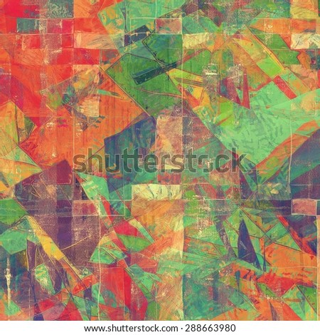 Abstract rough grunge background, colorful texture. With different color patterns: brown; green; blue; purple (violet); red (orange) - stock photo