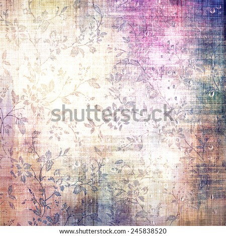 Abstract rough grunge background, colorful texture. With different color patterns: purple (violet); yellow (beige); gray; blue - stock photo