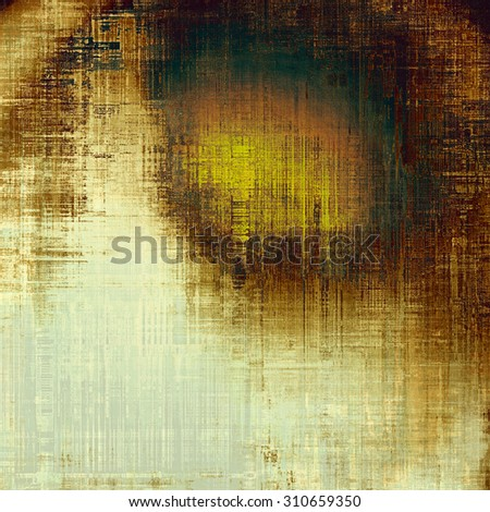 Abstract rough grunge background, colorful texture. With different color patterns: yellow (beige); brown; green; black - stock photo