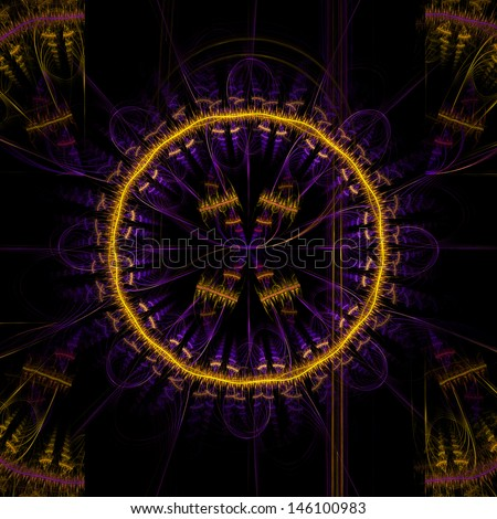 Abstract round ornament for background