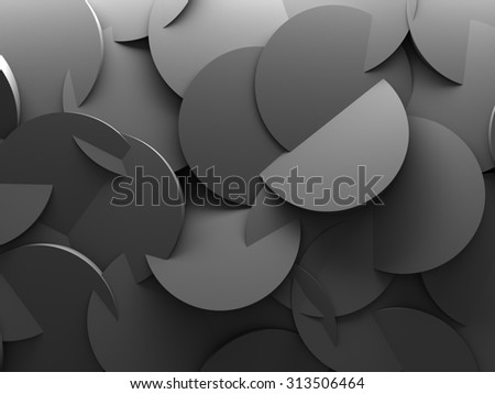Abstract Round Pattern Wall Architectute Background. 3d Render Illustration - stock photo