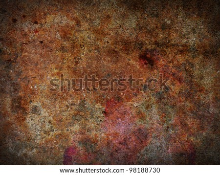 Abstract rusty background - stock photo