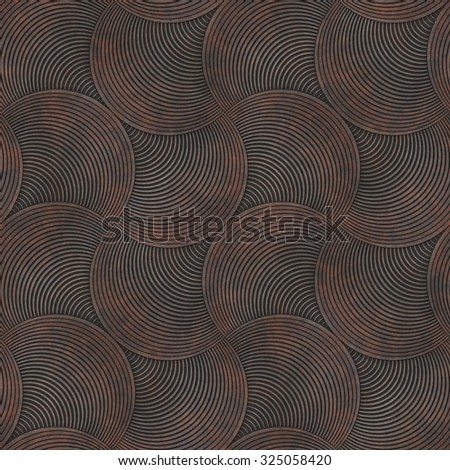 Abstract rusty striped petals textured background. Seamless pattern. - stock photo