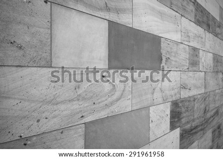 abstract sandstone wall background in black and white - stock photo