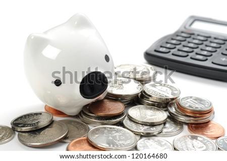 Abstract saving money - stock photo