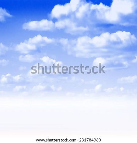 abstract scene shining blue sky - stock photo