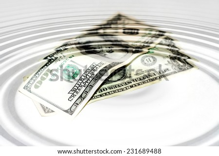 abstract scene with money - stock photo
