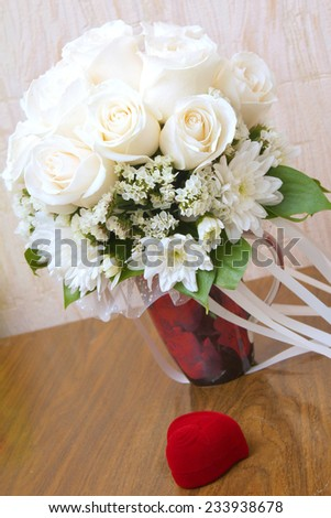 abstract scene with wedding rings as celebration background  - stock photo