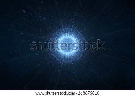 Abstract science fiction futuristic background - stock photo