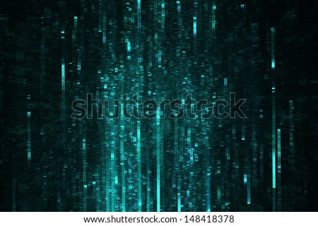 Abstract science fiction sci-fi matrix like background - stock photo